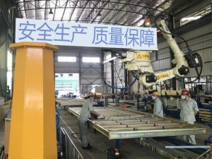 Advertising truck structure parts welding
