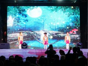 LED screen on Siwun S-80 Stage truck