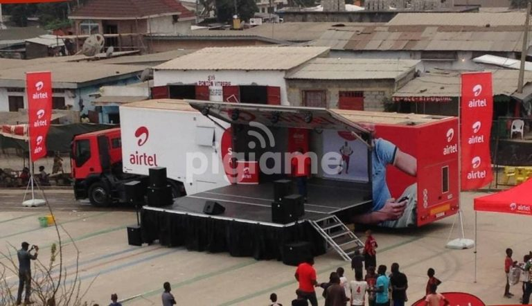 Airtel mobile telecom stage trailer
