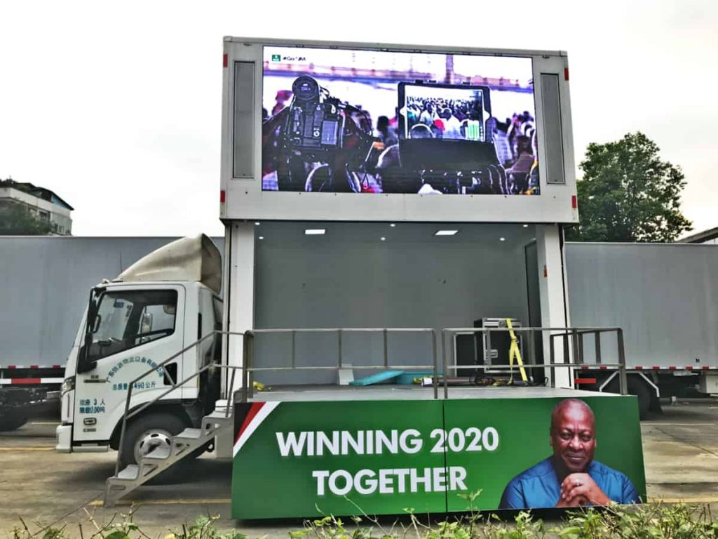 D-6S LED billboard truck with stage for election