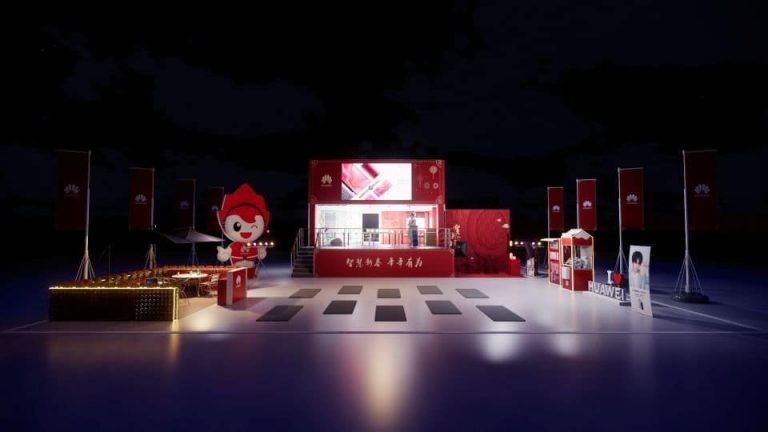 Huawei mobile LED advertising truck campaign space design