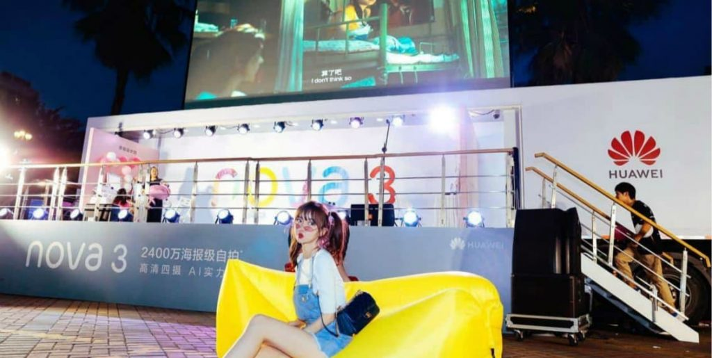 Huawei mobile exhibition truck campaigns