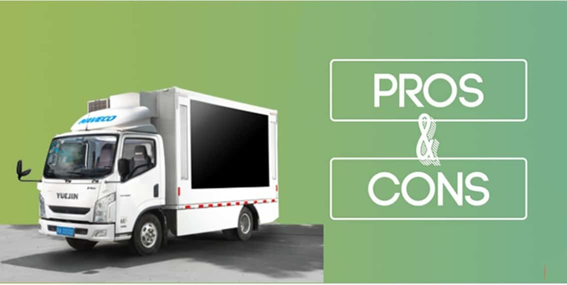 Pros and cons of mobile digital LED billboard truck