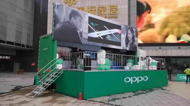 Siwun LED advertising truck for OPPO in event